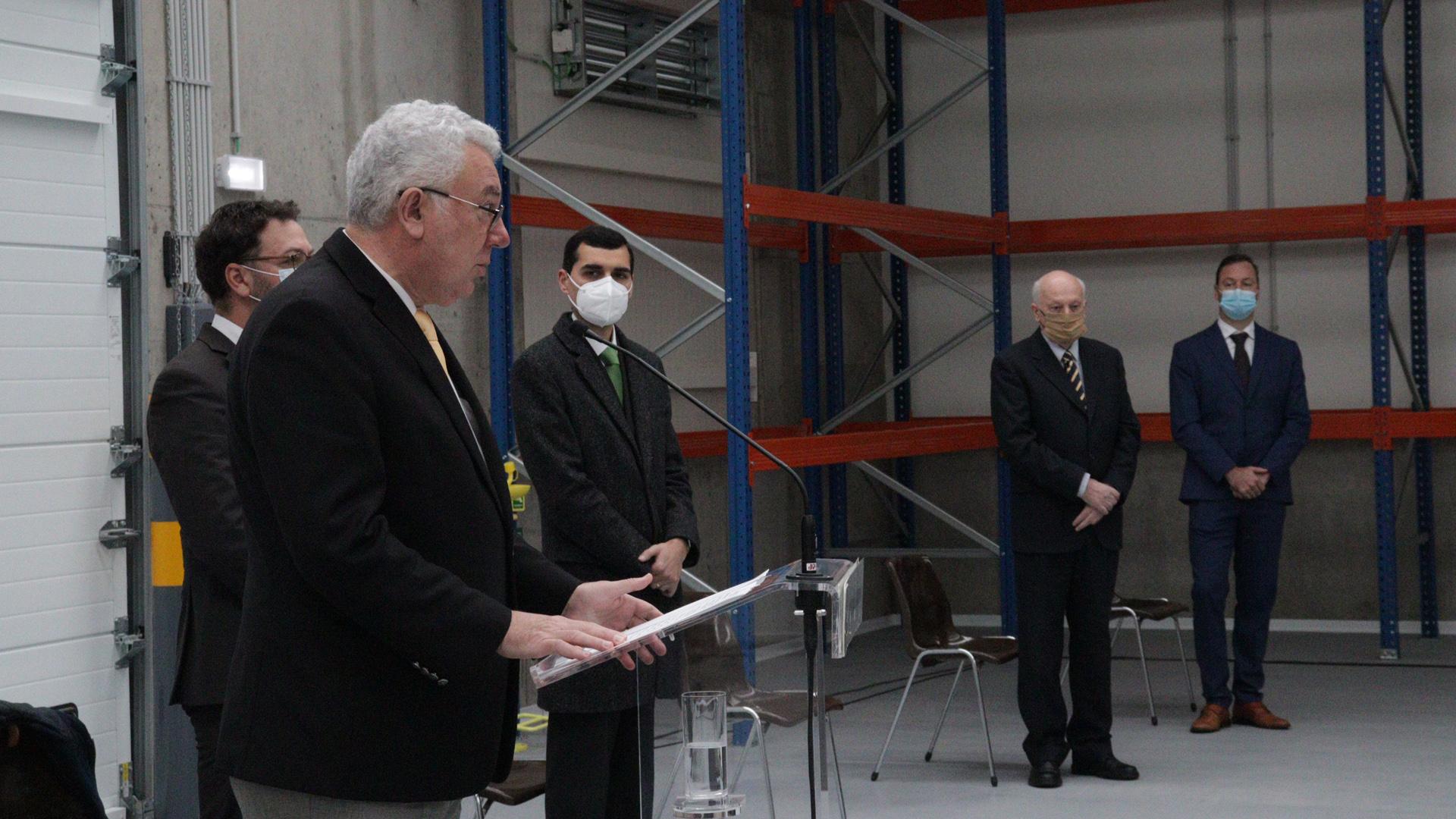 Inauguração do Terminal de Cargas da Aerogare Civil das Lajes