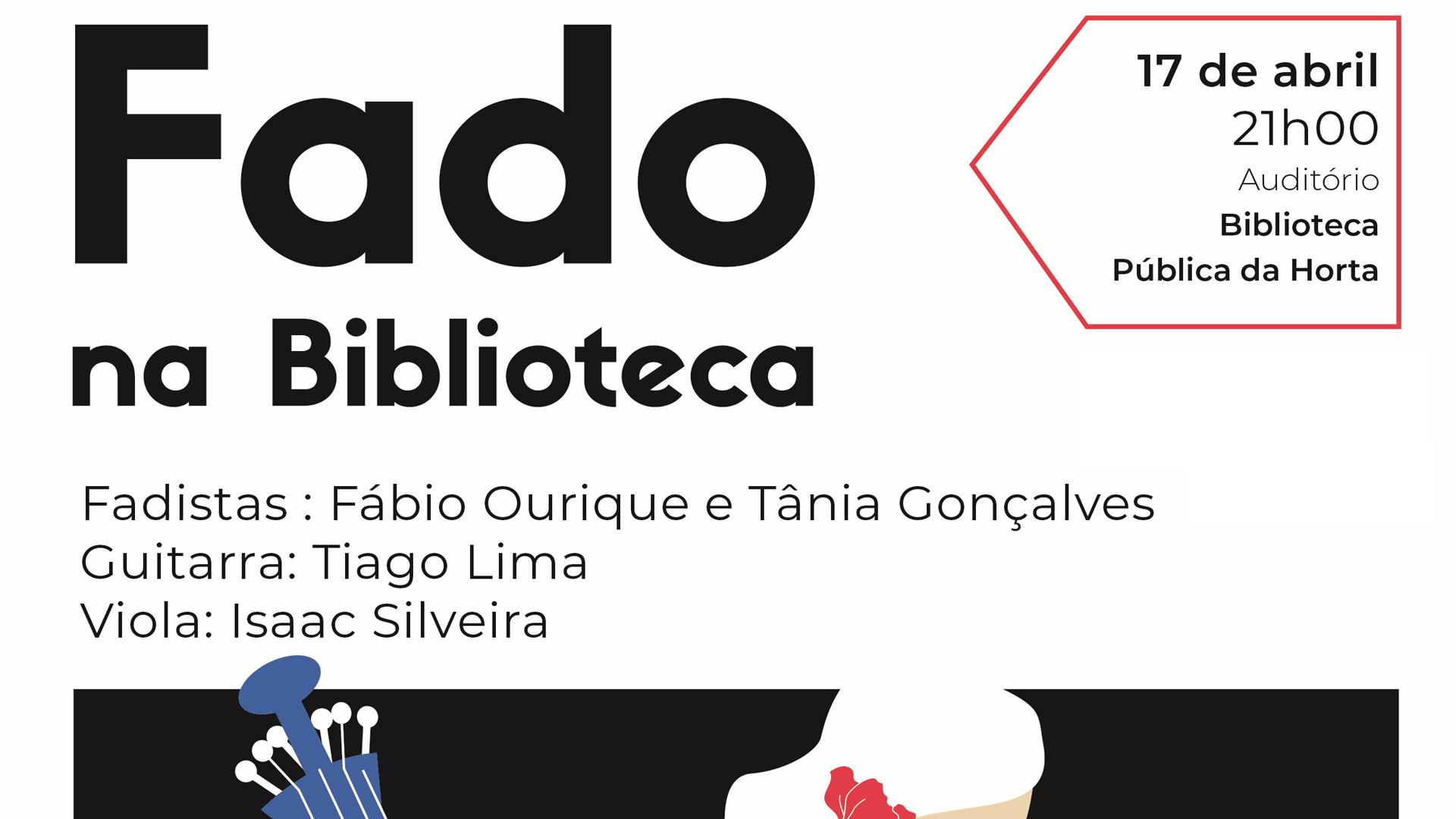 """Concerto """"Fado na Biblioteca"""" - Cartaz"""
