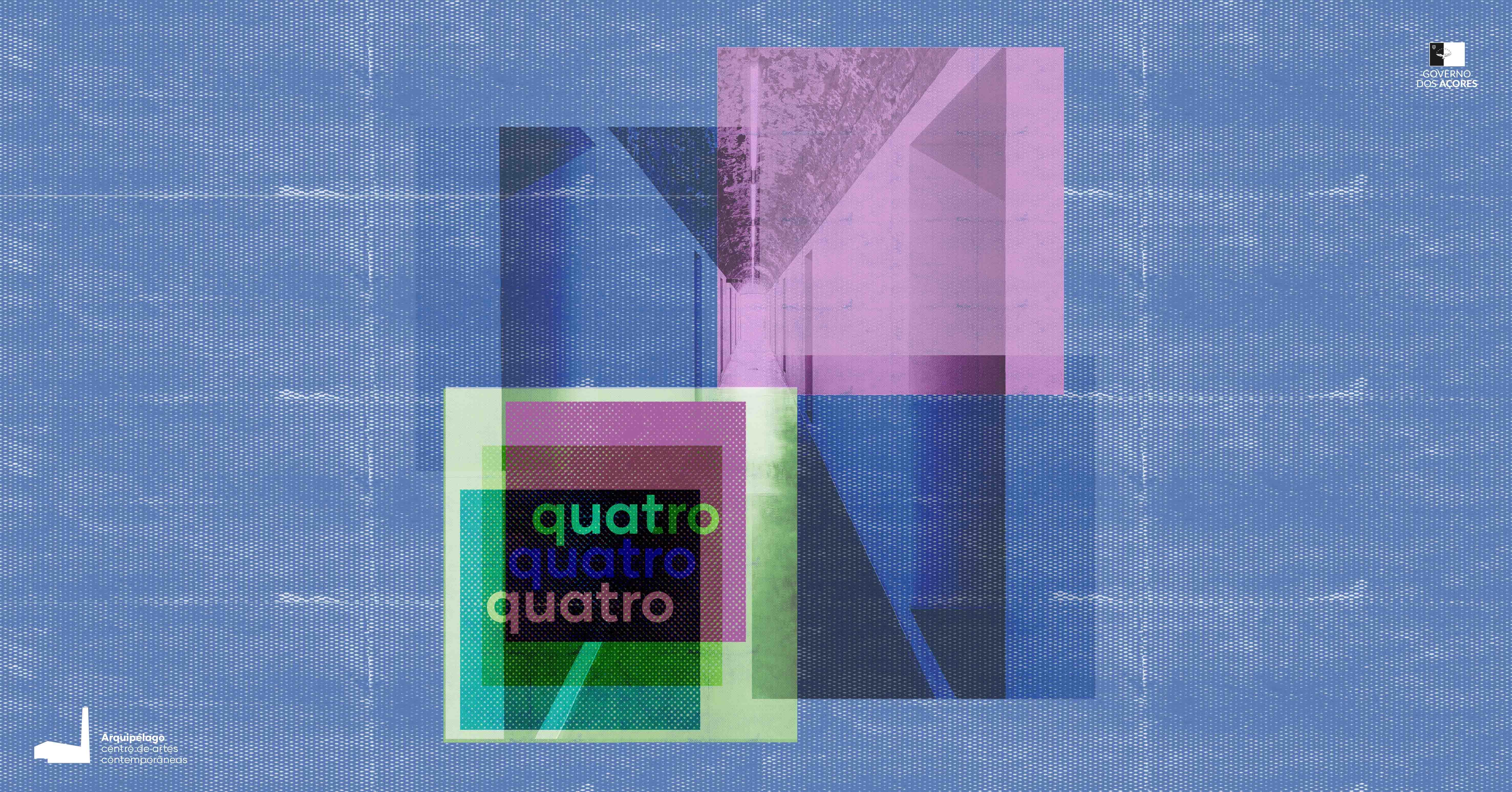 """Exposição """"Quatro Quatro"""" - cartaz"""