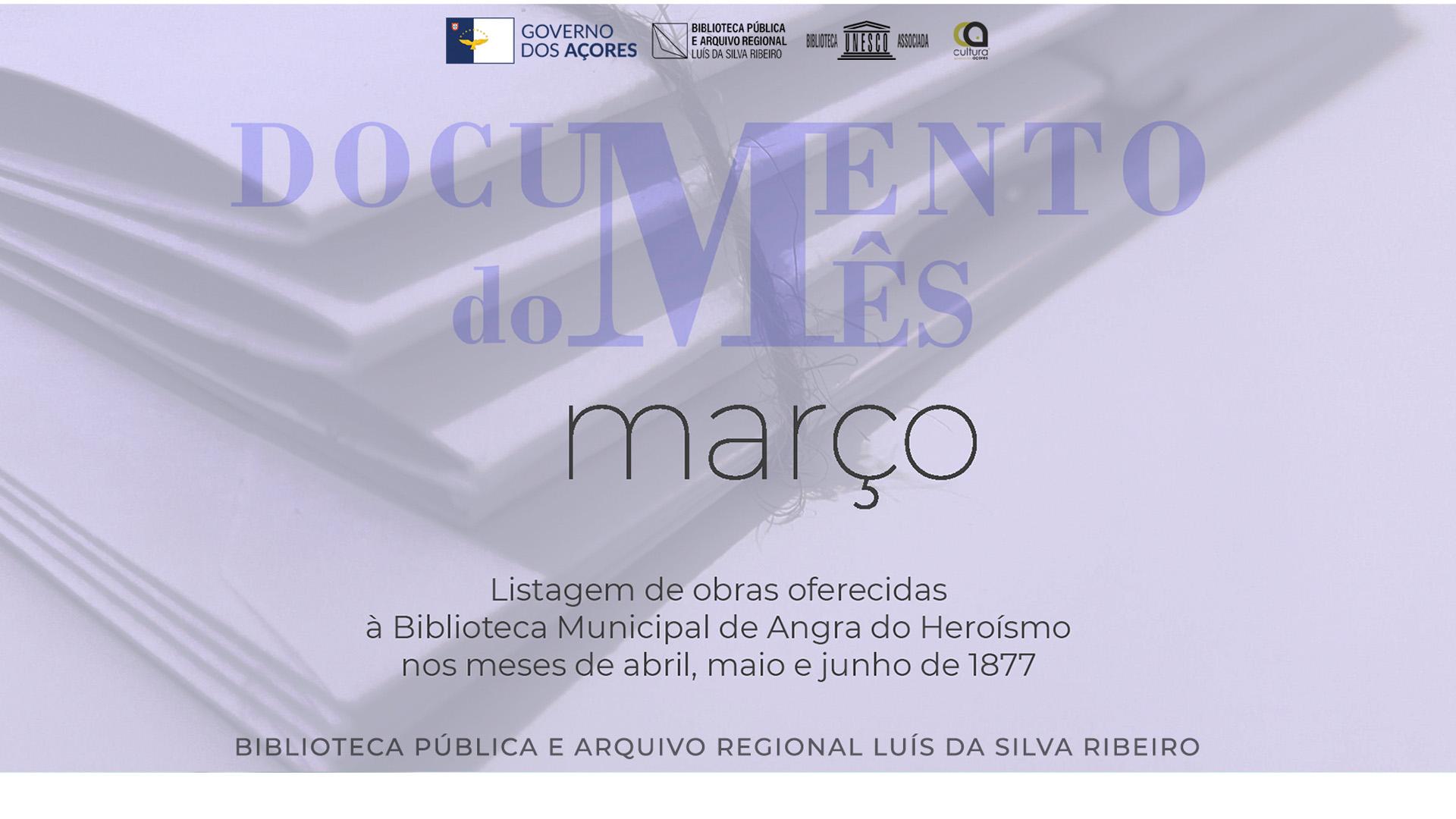 """""""Documento do Mês"""" - cartaz"""