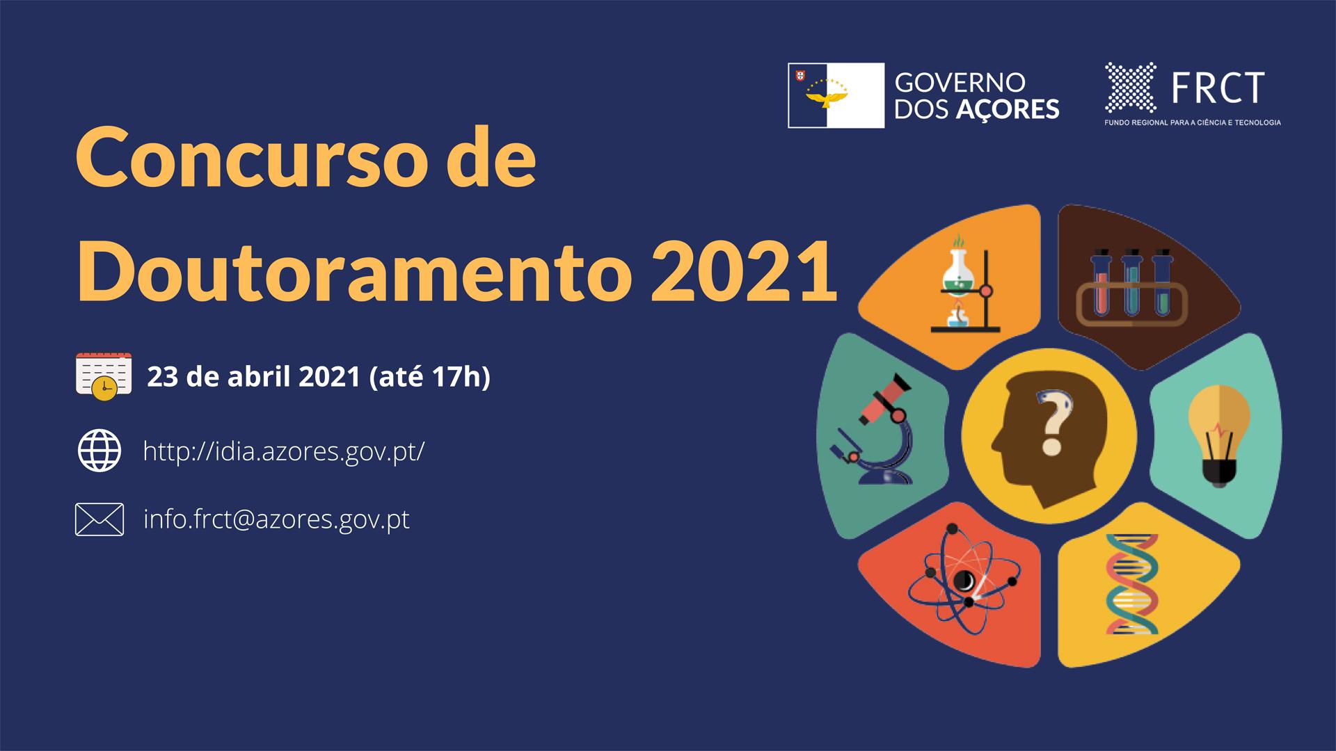 ABERTO CONCURSO PARA BOLSAS DE DOUTORAMENTO 2021