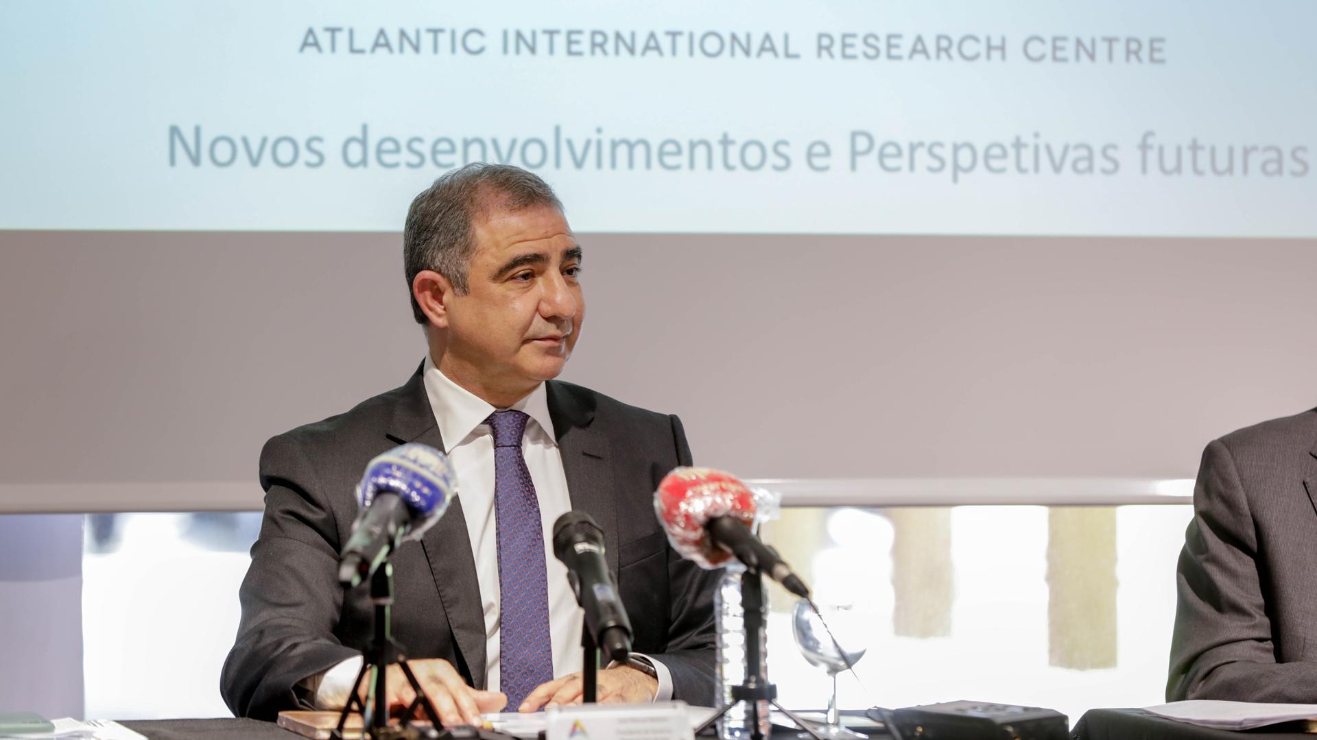 Conferência de imprensa a propósito dos projetos do Centro Internacional de Investigação para o Atlântico (AIR Centre)