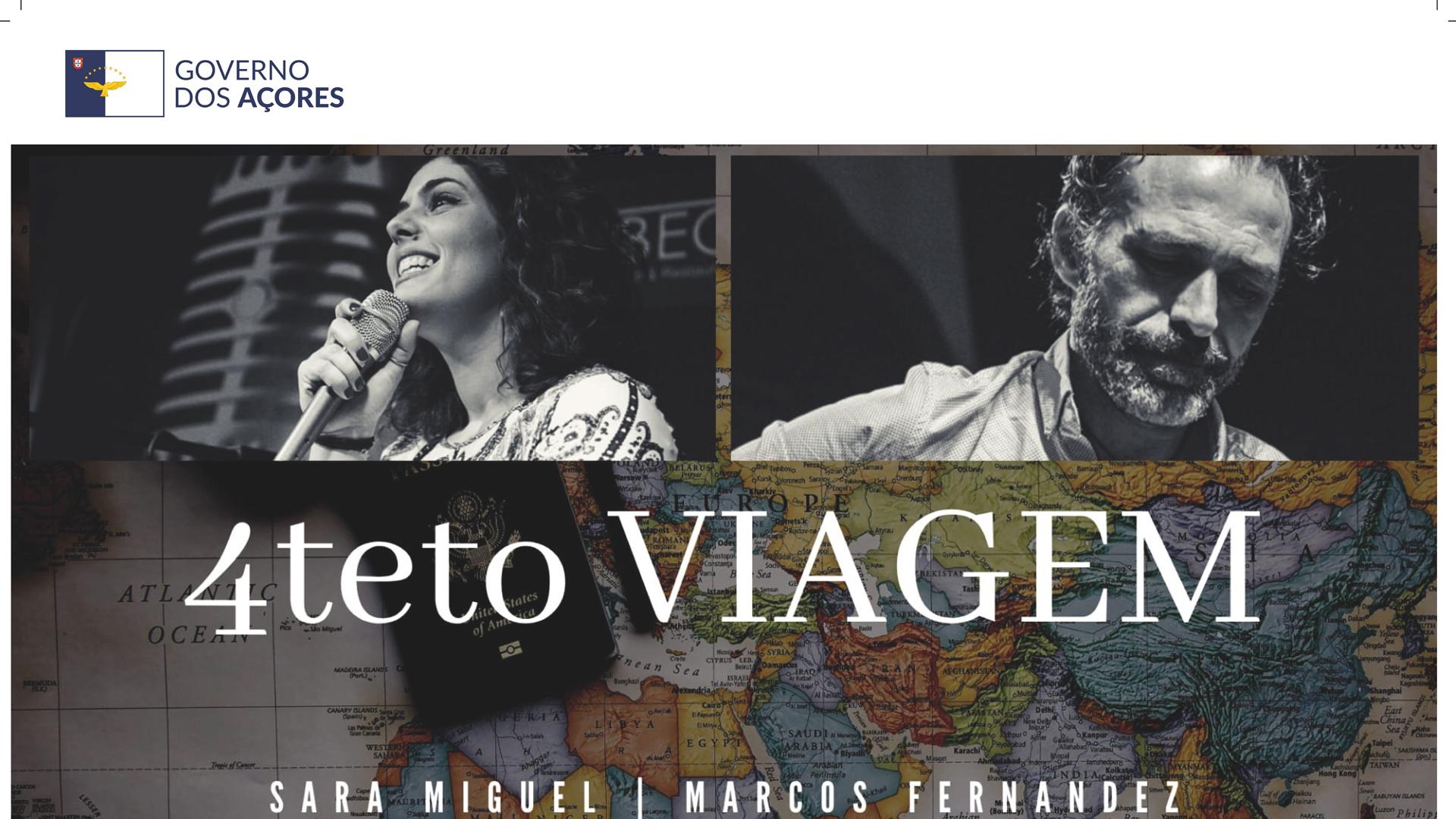 """Concerto musical """"4teto Viagem"""" - cartaz"""