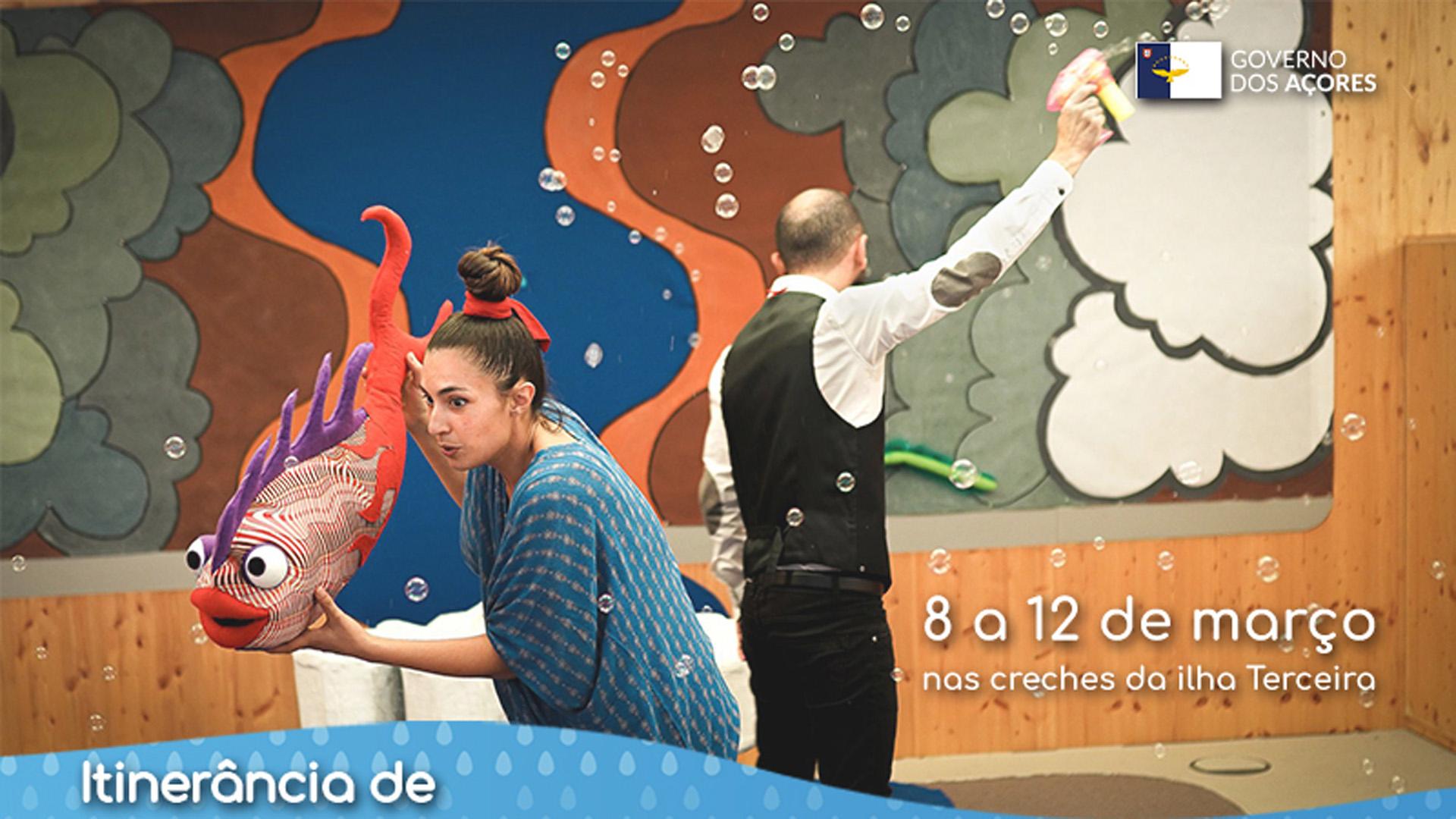 Projeto de teatro, entre os dias 8 e 12 de março, para crianças dos 12 aos 36 meses.