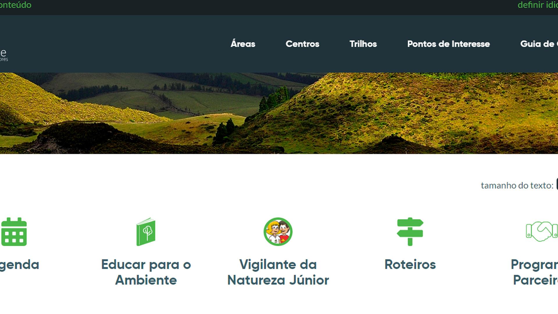Portal parques Naturais dos Açores
