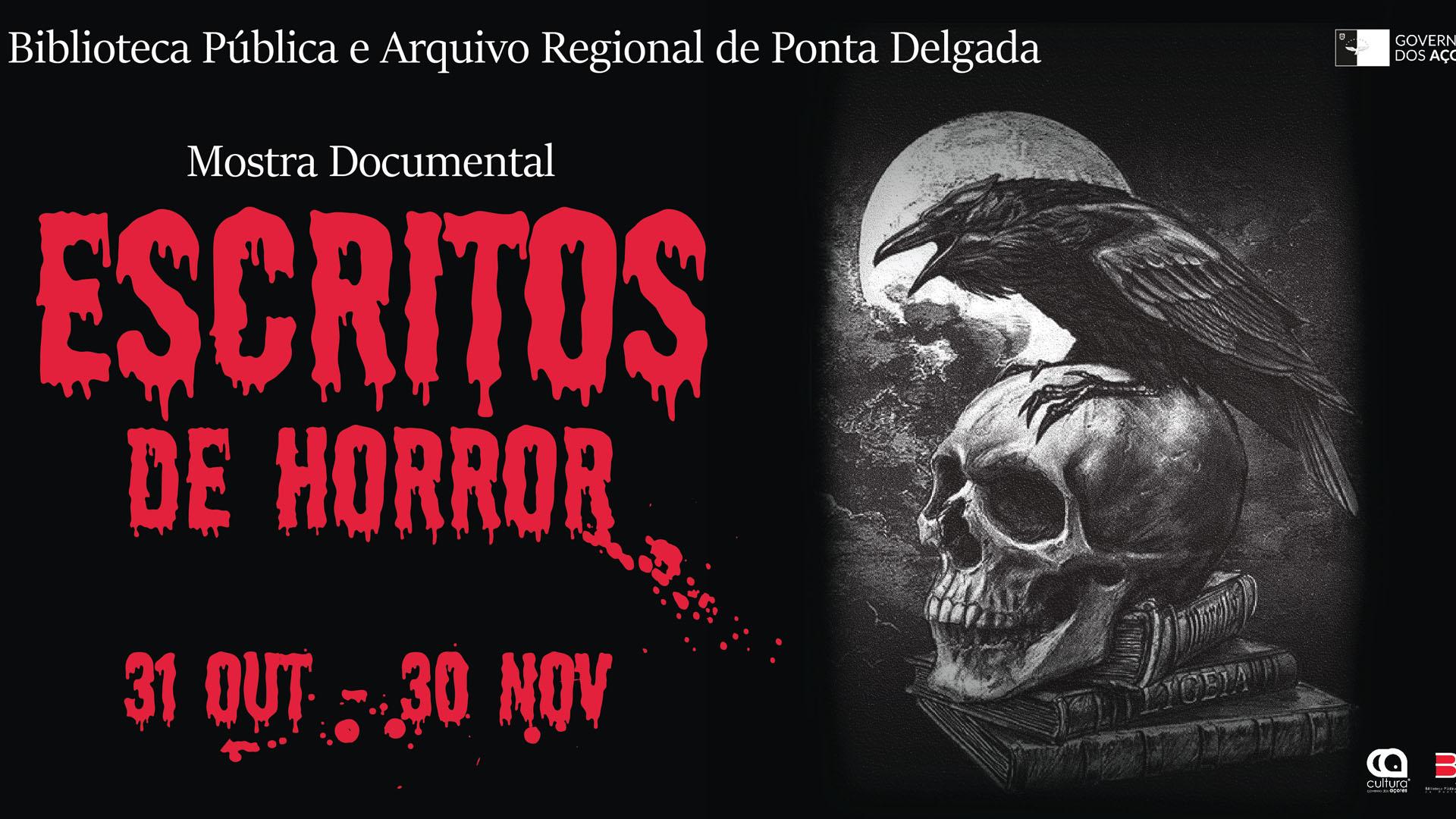 "Mostra ""Escritos de Horror"" - Cartaz"