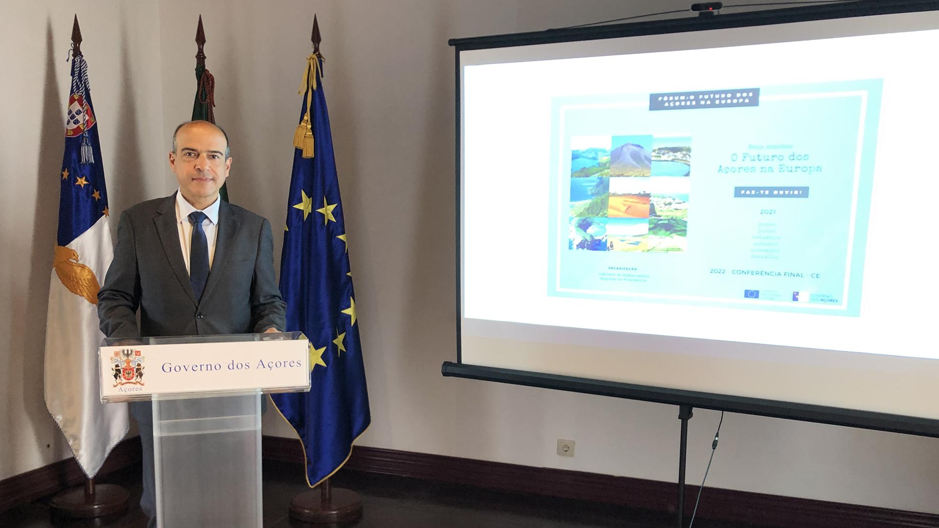 Conferência de imprensa para apresentar o fórum 'O Futuro dos Açores na Europa - Turismo Sustentável e Setores Transversais'